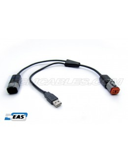 Buell DUAL POWER Y- Cable  Harley J1850 HarleyDroid Battery Pack Power  with EAS™ Technology