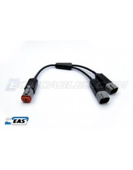 Harley J1850 Buell Y-Cable Extension 4PM-to-4PFx2 PWR&DATA SERT SEPRT EAS™ Technology