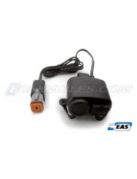 "Harley-Davidson 1"" Handlebar Mount 'Plug-n-Go' USB & 12V Auxiliary Power Outlet on CAN BUS ECM or AUX PWR with EAS™ Technology"