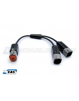 Harley CAN BUS Y-Cable Extension 6PM-to-6PFx2 PWR&DATA SERT SEPR EAS™ Technology