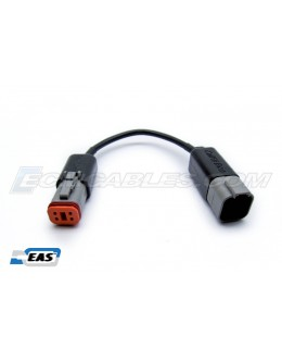 Harley Powervision Dynojet 4Pin Male to 6 Pin Female Pigtail Adapter with EAS™ Technology