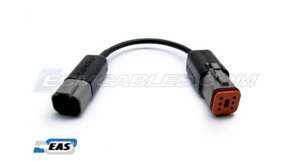 Harley Powervision Dynojet 6 Pin Male to 4Pin Female Pigtail Adapter with EAS™ Technology