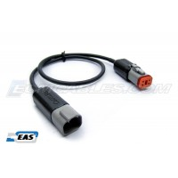"Harley Davidson J1850 Buell ECM Cable 12"" Extension M-F Black DT06-4S DT04-4P with EAS™"